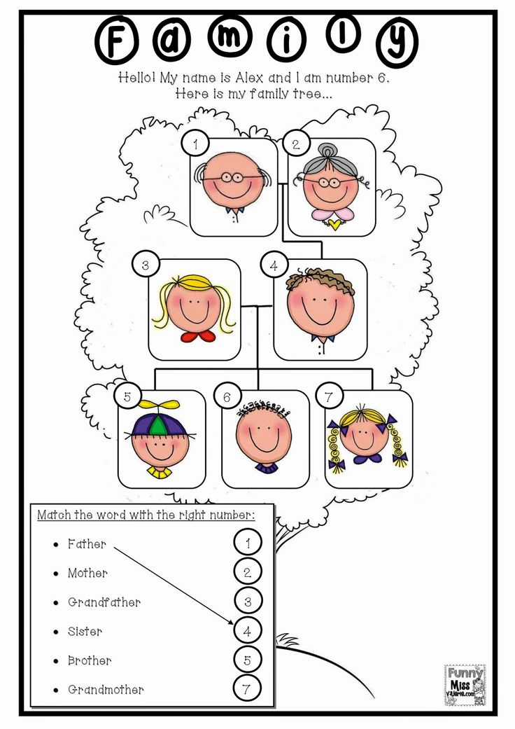 Family Tree Worksheets for Kids Fresh 33 Best Images About Family On Pinterest