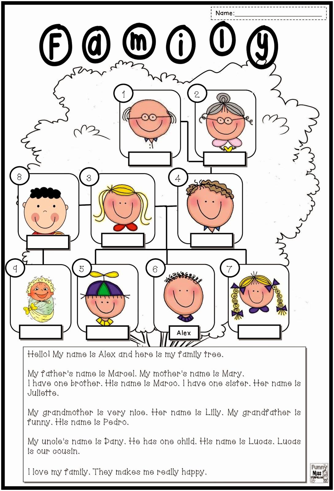 Family Tree Worksheets for Kids Inspirational New 266 Family Tree Worksheet for Grade 2