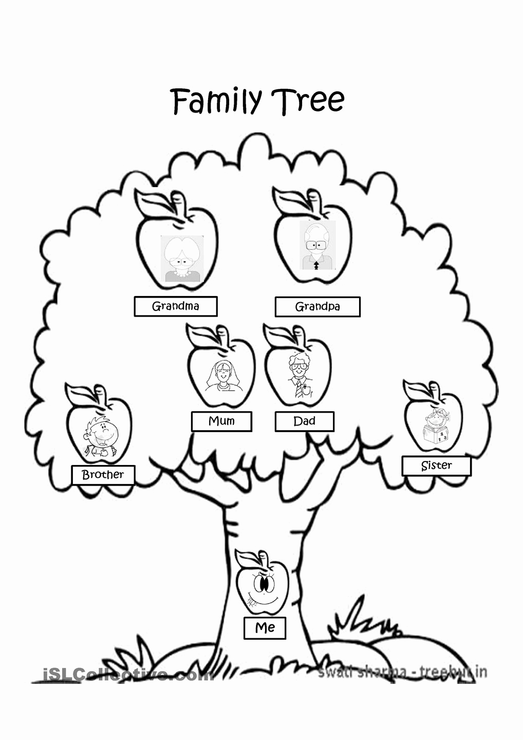 Family Tree Worksheets for Kids Lovely Family Tree Drawing Easy at Getdrawings