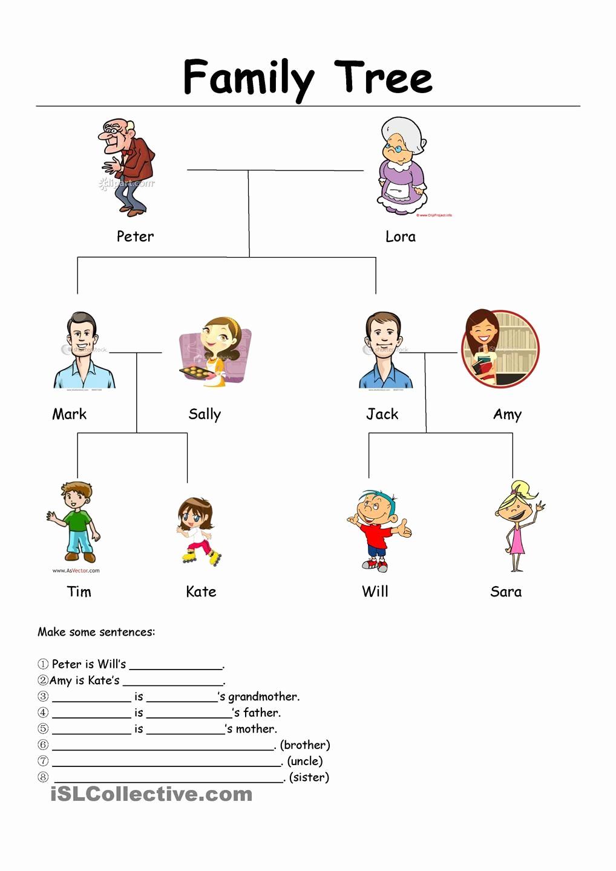 Family Tree Worksheets for Kids Lovely Family Tree