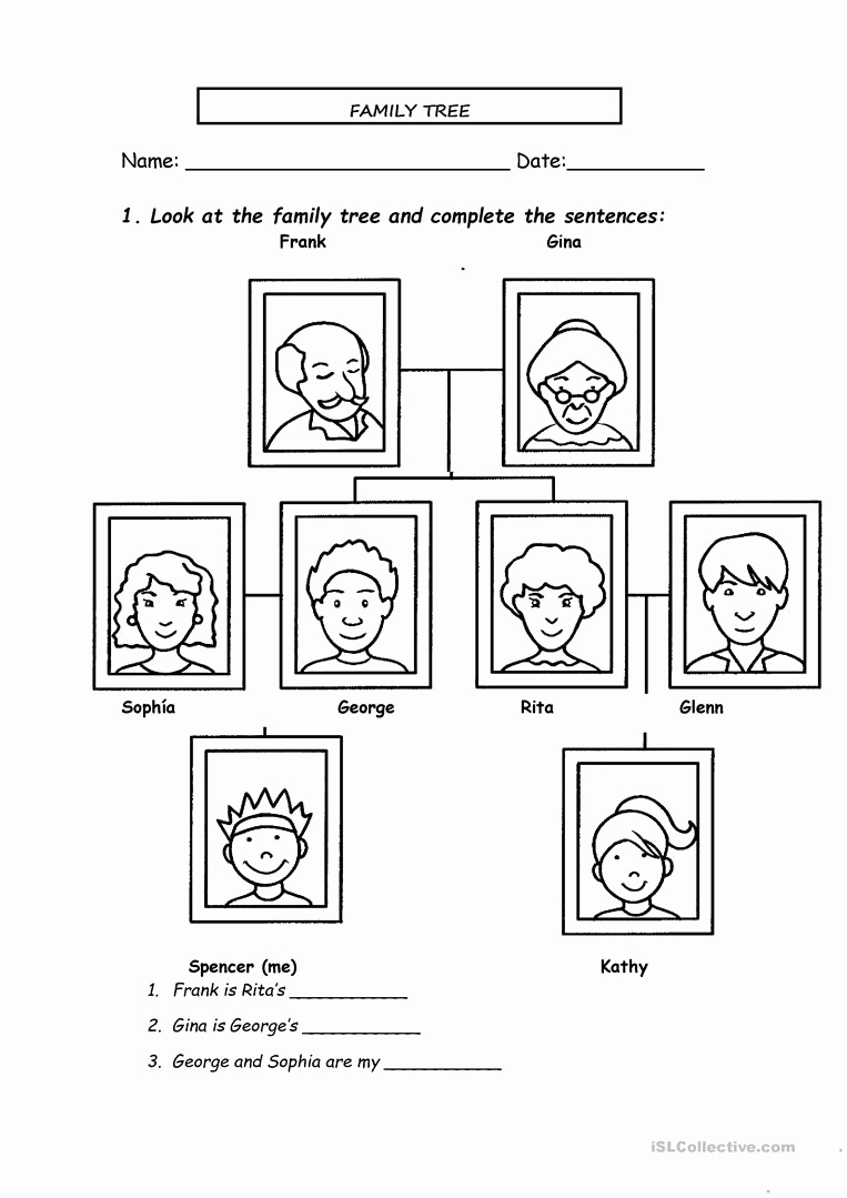 Family Tree Worksheets for Kids New Family Tree English Esl Worksheets for Distance Learning