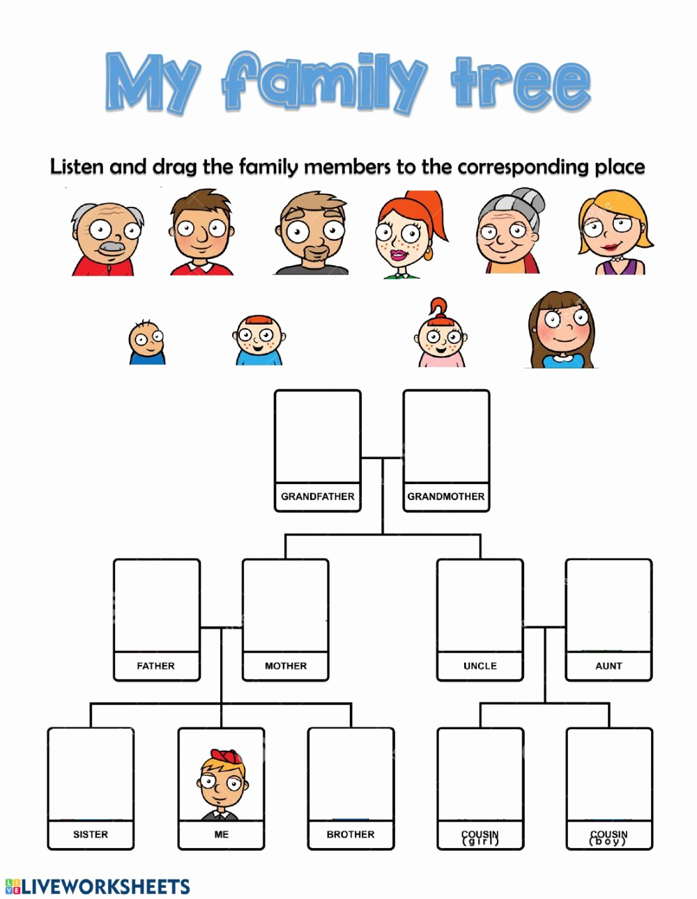 Family Tree Worksheets for Kids New the Family Interactive and Able Worksheet You Can