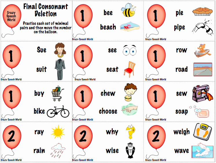 Final Consonant Deletion Worksheet Awesome Up Up & Away Phonology
