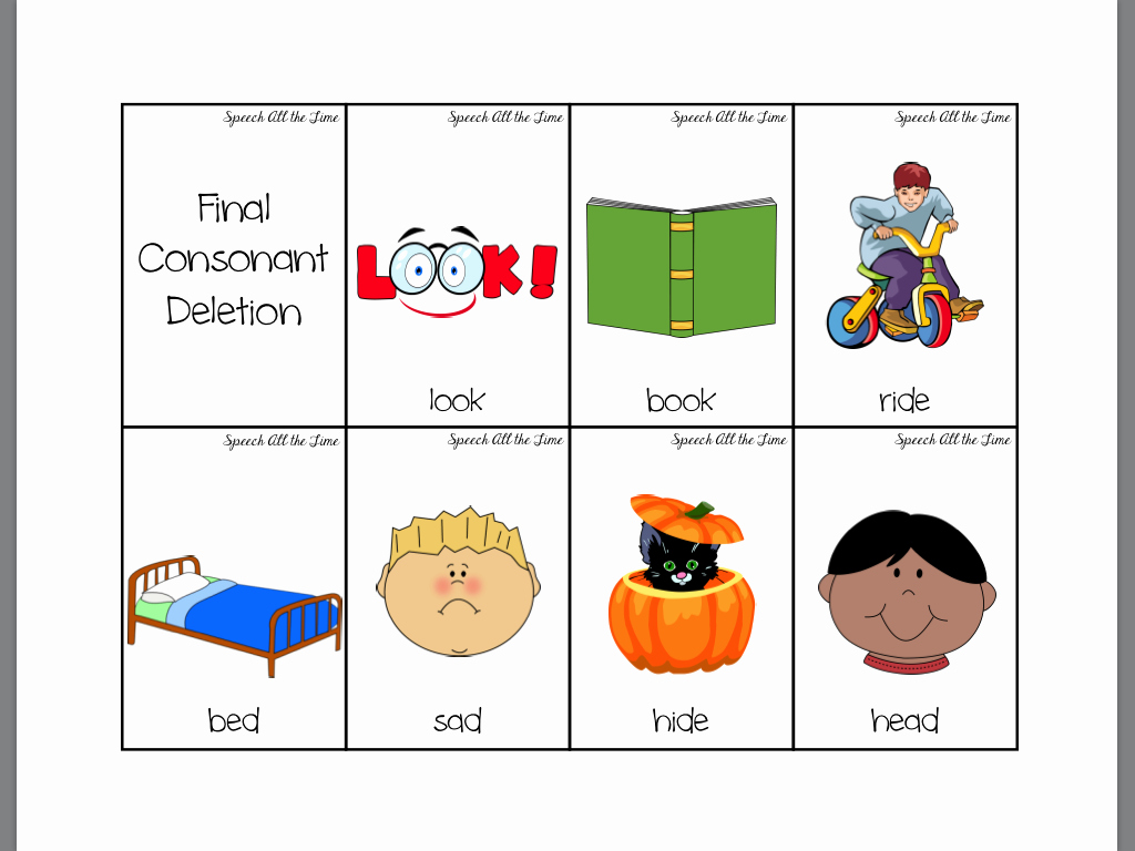 Final Consonant Deletion Worksheet Beautiful Worksheet Final Consonant Deletion Worksheets Worksheet