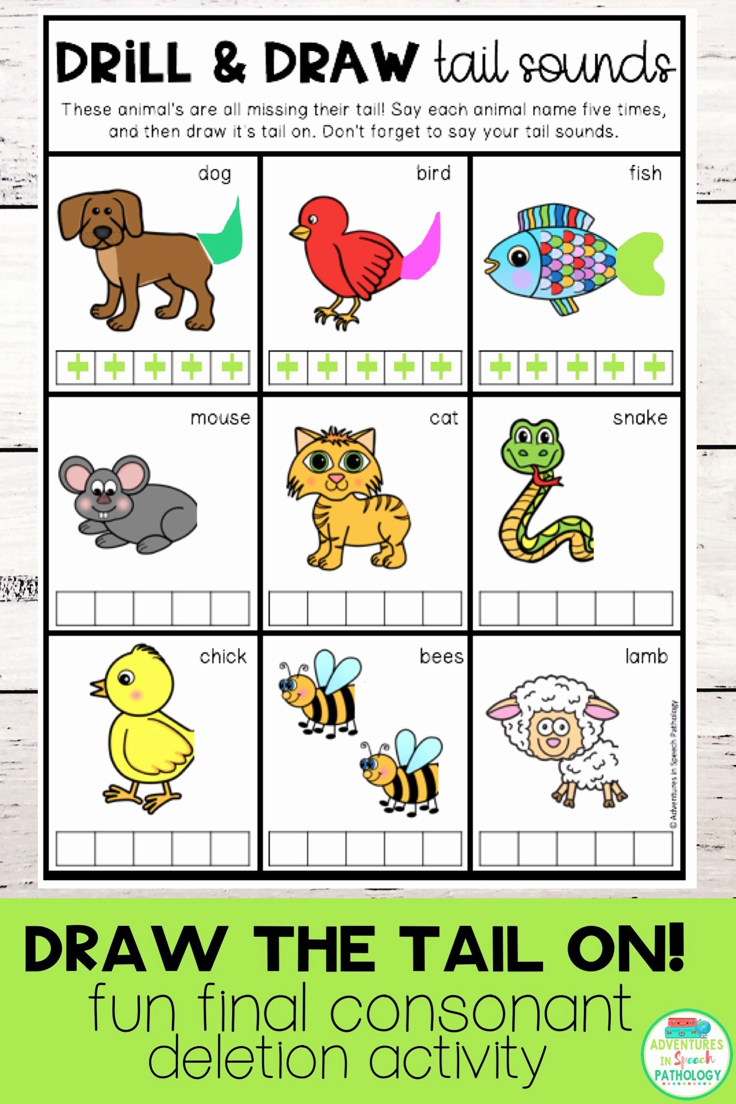 Final Consonant Deletion Worksheet Inspirational 30 Final Consonant Deletion Worksheet