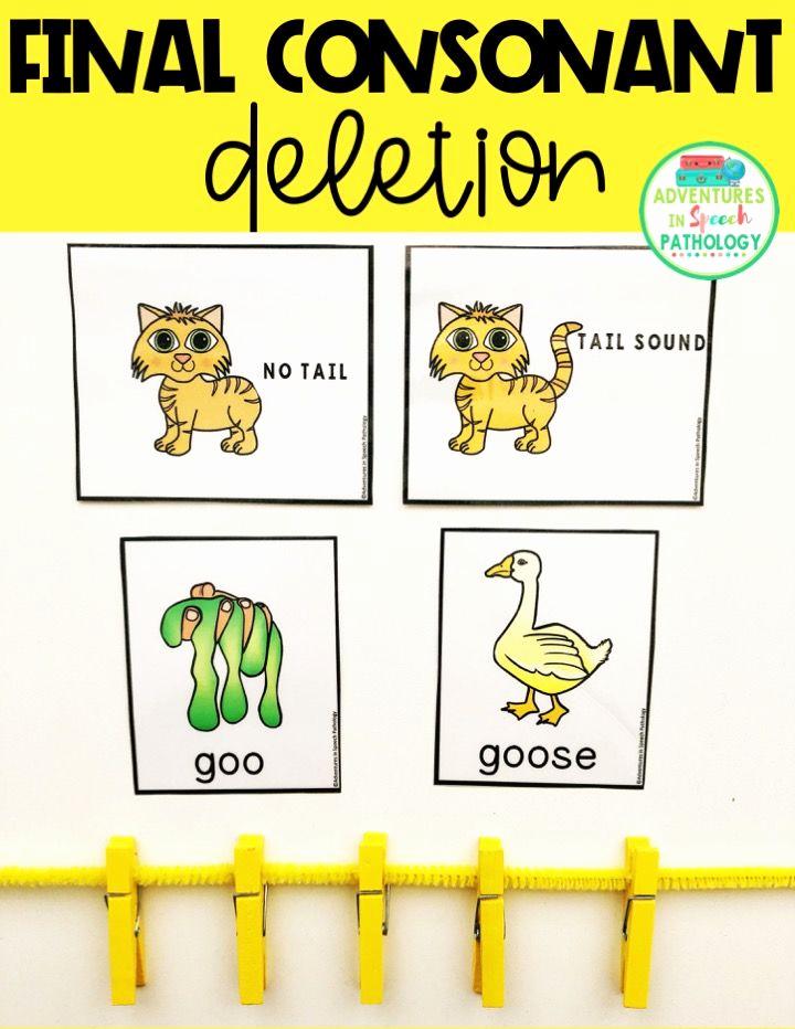 Final Consonant Deletion Worksheet Lovely Teach Phonology Activities Final Consonant Deletion with
