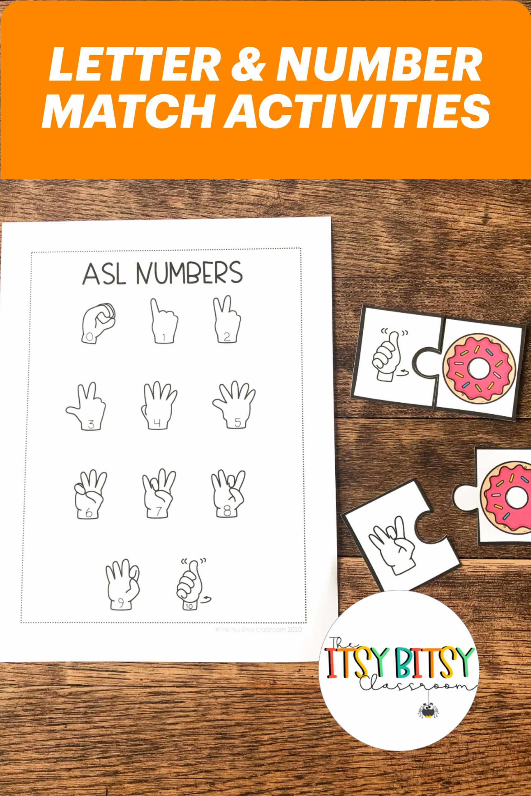 Fingerspelling Practice Worksheets New Practice Letter and Number Matching with these asl