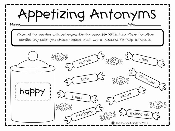 First Grade Antonyms Worksheet Awesome 11 Best Of Antonym Worksheets for Grade 1
