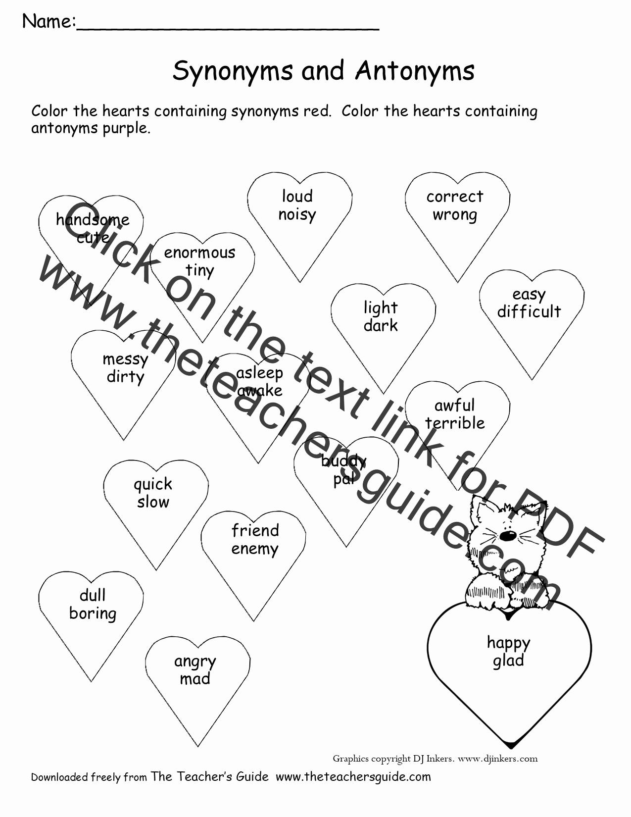 First Grade Antonyms Worksheet Best Of 20 Missing Addends Worksheets First Grade