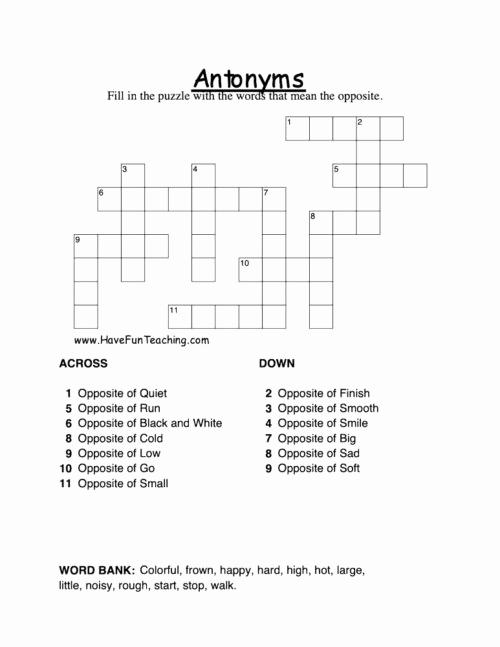 First Grade Antonyms Worksheet Best Of First Grade Antonyms Worksheets • Have Fun Teaching