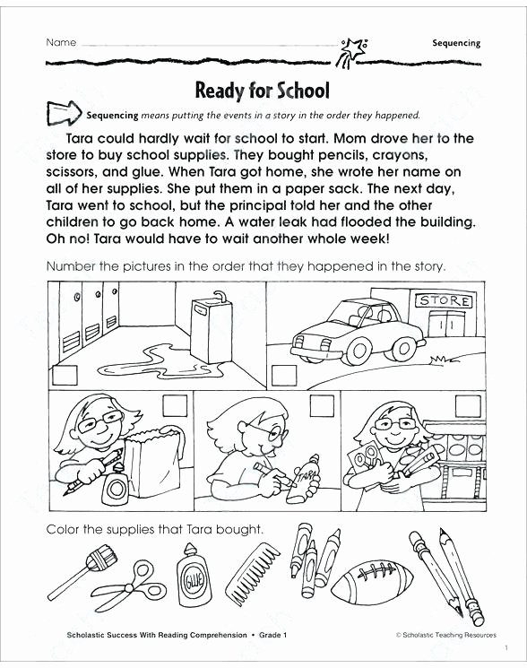 First Grade Sequencing Worksheets Awesome Sequence Worksheets for 1st Grade Story Sequencing