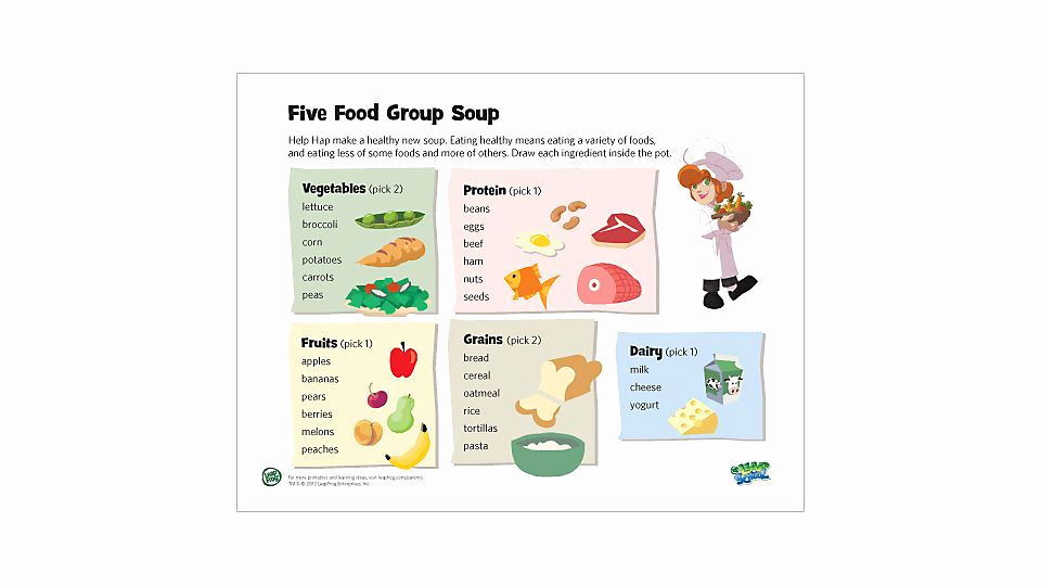 Five Food Groups Worksheets Awesome 5 Food Group soup