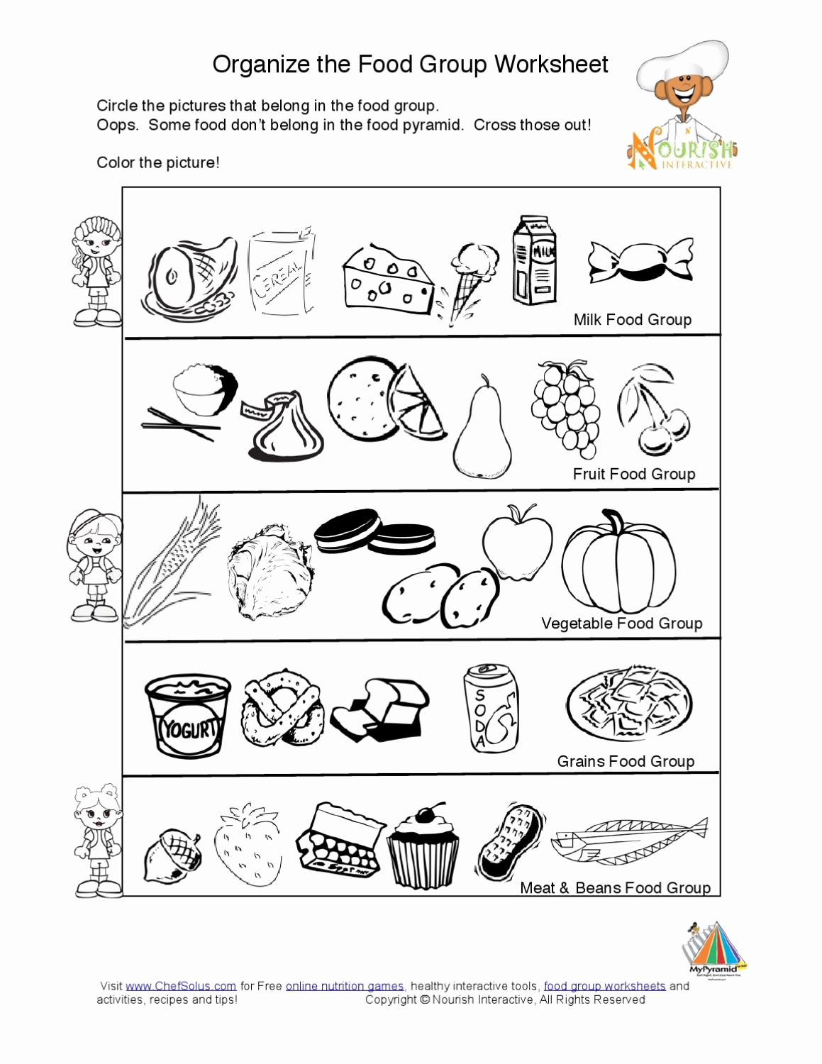 Five Food Groups Worksheets Awesome Kids Food Pyramid Food Groups Learning Nutrition Worksheet