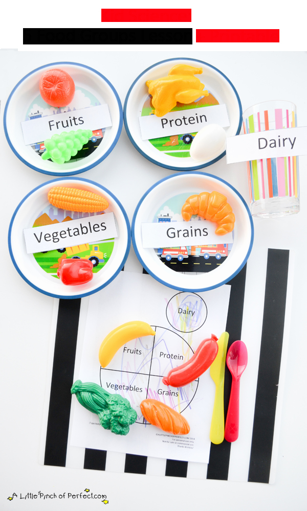 Five Food Groups Worksheets Awesome Science for Kids Learning About the 5 Food Groups