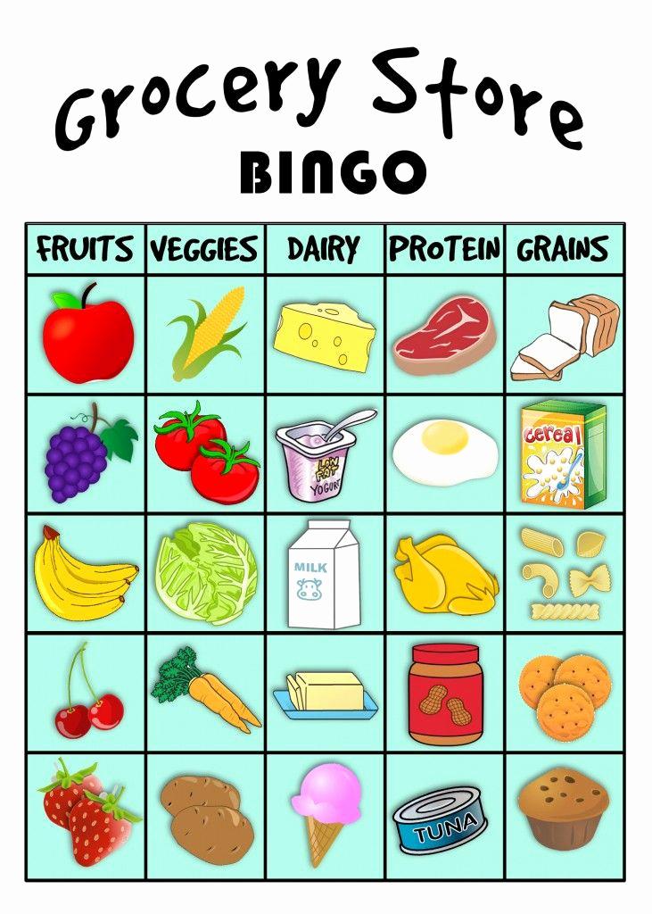 Five Food Groups Worksheets Beautiful Grocery Store Bingo Best Of Pinterest