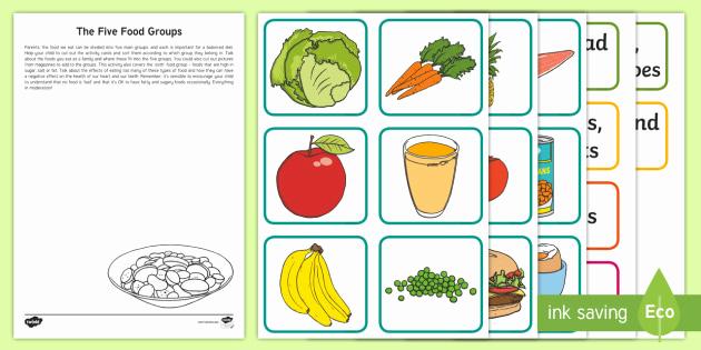 Five Food Groups Worksheets Best Of Ks1 the Five Food Groups Worksheet Teacher Made