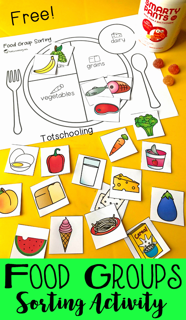 Five Food Groups Worksheets Best Of Teach Kids About Healthy Eating with A Food Group sorting