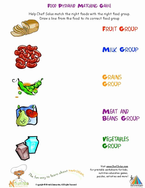 Five Food Groups Worksheets Fresh Printable Activities and Worksheets About Nutrition and