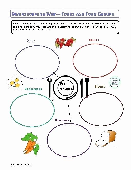 Five Food Groups Worksheets Inspirational Five Food Groups Worksheets