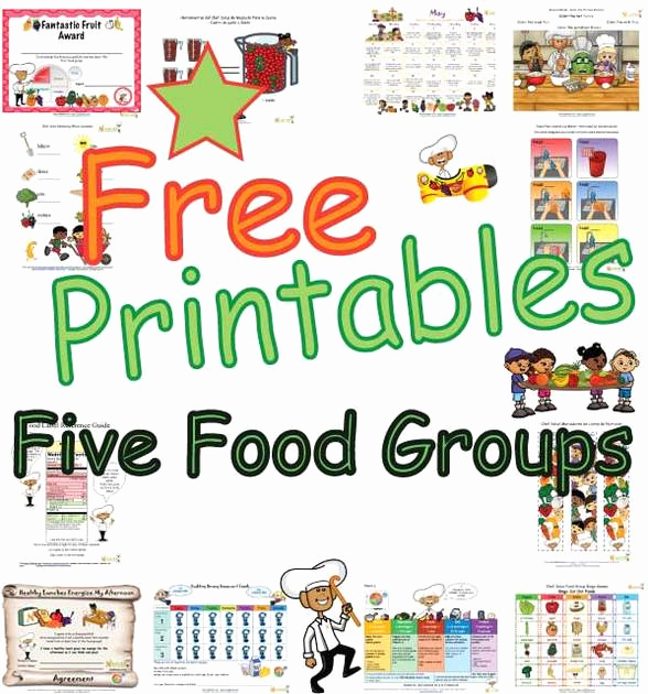 Five Food Groups Worksheets New Five Food Groups Learning and Activity Sheets