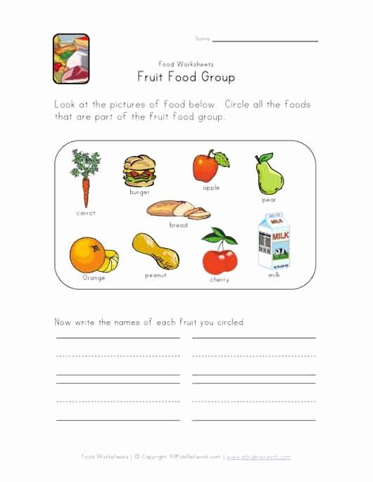 Five Food Groups Worksheets Unique 34 Best Food Lessons Images On Pinterest