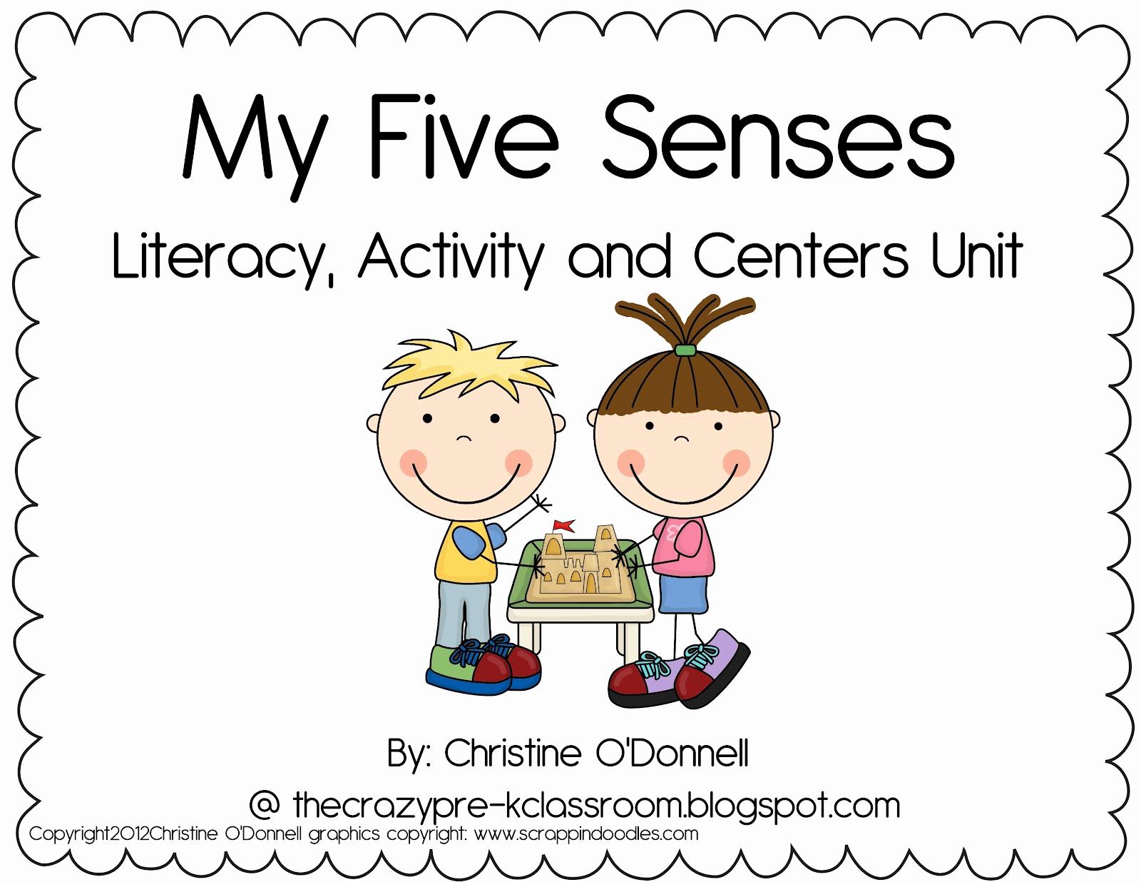 Five Senses Worksheets for Kindergarten Lovely the Crazy Pre K Classroom is now the Kindergarten Life My