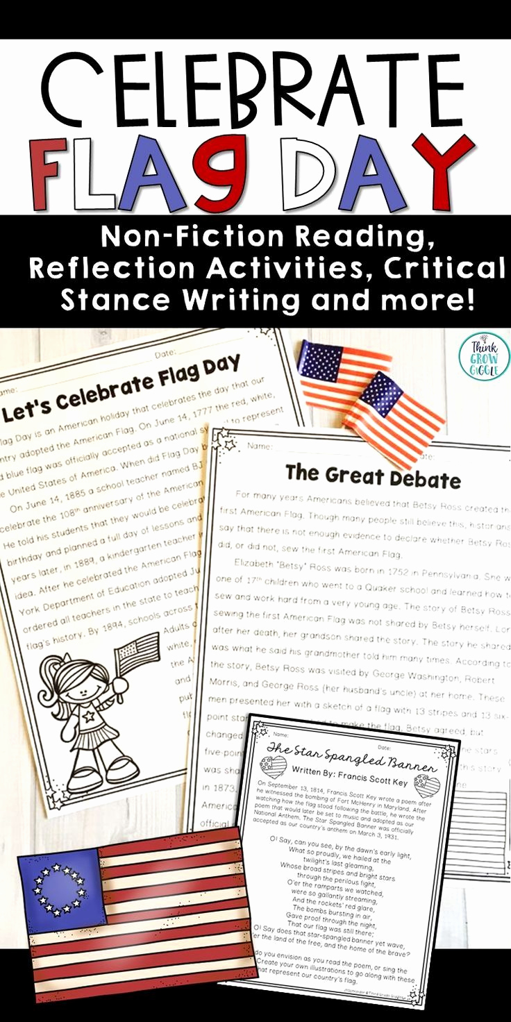 Flag Day Reading Comprehension Worksheets Beautiful Flag Day Activities