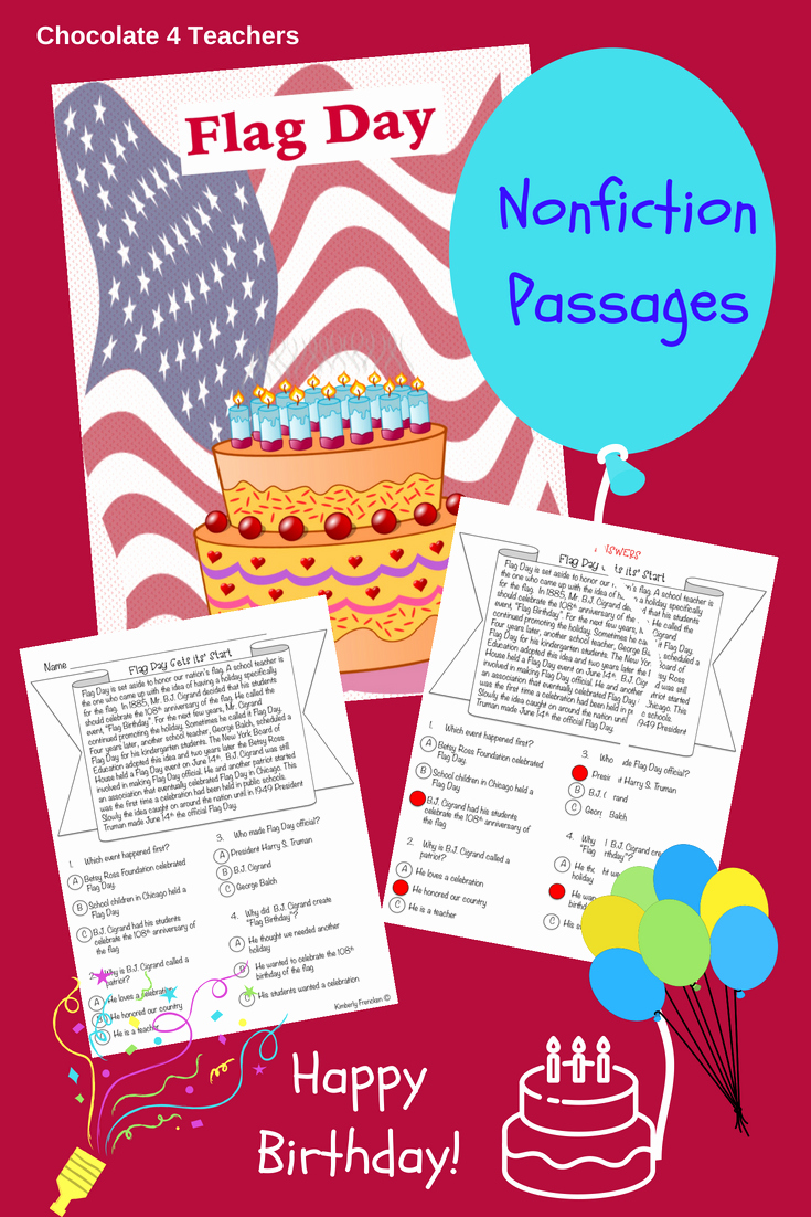 Flag Day Reading Comprehension Worksheets Beautiful Flag Day Non Fiction Passages & Printables