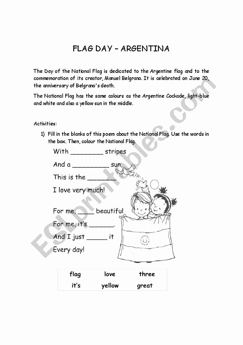 Flag Day Reading Comprehension Worksheets Fresh 20 Flag Day Reading Prehension Worksheets Suryadi
