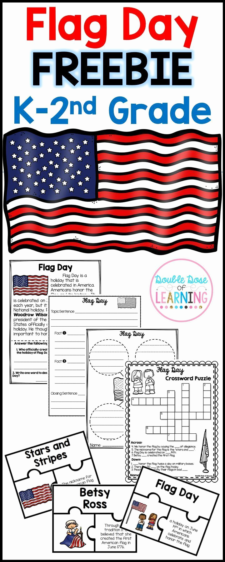Flag Day Reading Comprehension Worksheets Lovely Flag Day Research Unit for K 2nd Grade