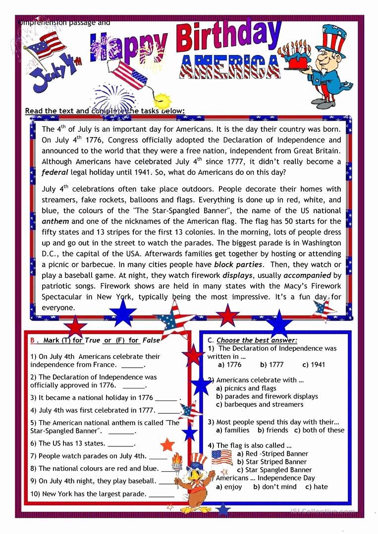 Flag Day Reading Comprehension Worksheets New 20 Flag Day Reading Prehension Worksheets Suryadi