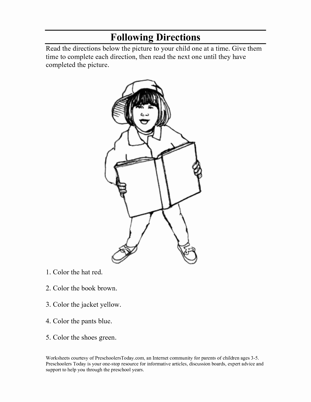 Following Directions Coloring Worksheet Awesome 14 Best Of Follow Directions Worksheets for