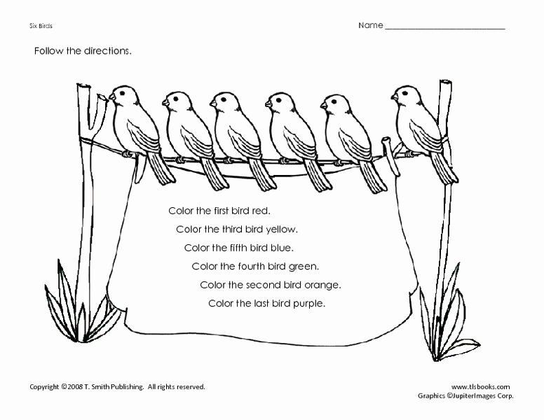 Following Directions Coloring Worksheet Fresh Following Directions Coloring Page Worksheet for