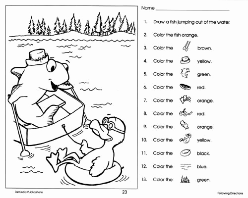 Following Directions Coloring Worksheet Luxury Following Directions Coloring Pages Sketch Coloring Page