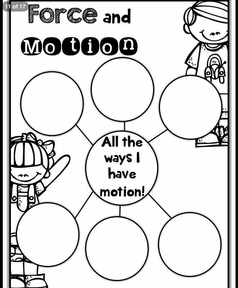 Force and Motion Printable Worksheets Awesome force and Motion