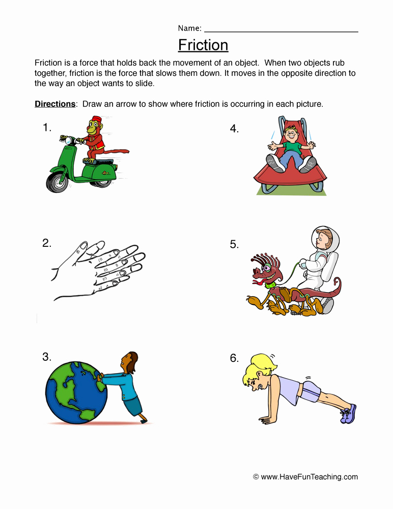 Force and Motion Printable Worksheets Best Of force and Motion Worksheets