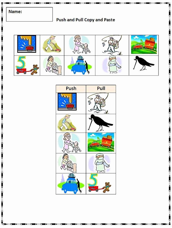Force and Motion Printable Worksheets Best Of Pin On Printable Worksheet for Kindergarten