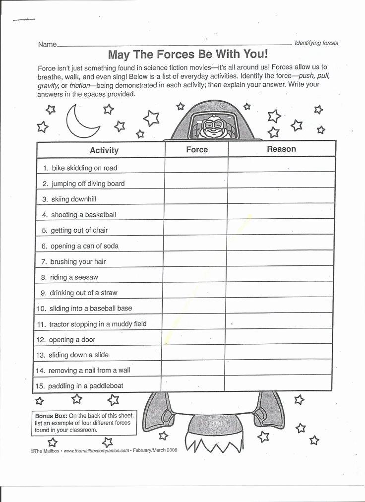 Force and Motion Printable Worksheets Elegant force and Motion Printable Worksheets Gravity Worksheet