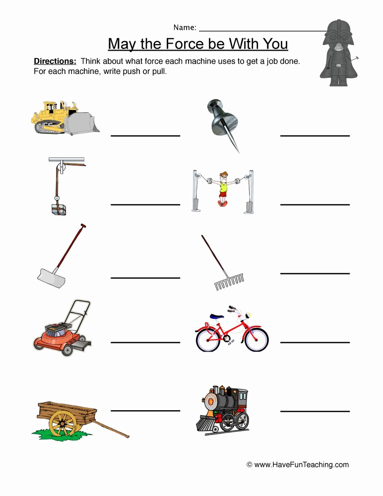 Force and Motion Printable Worksheets Elegant Labeling force and Motion Worksheet