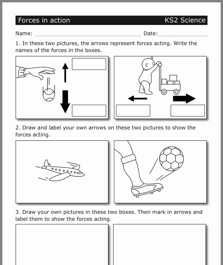 Force and Motion Printable Worksheets Luxury Pin by Dht On forces with Images