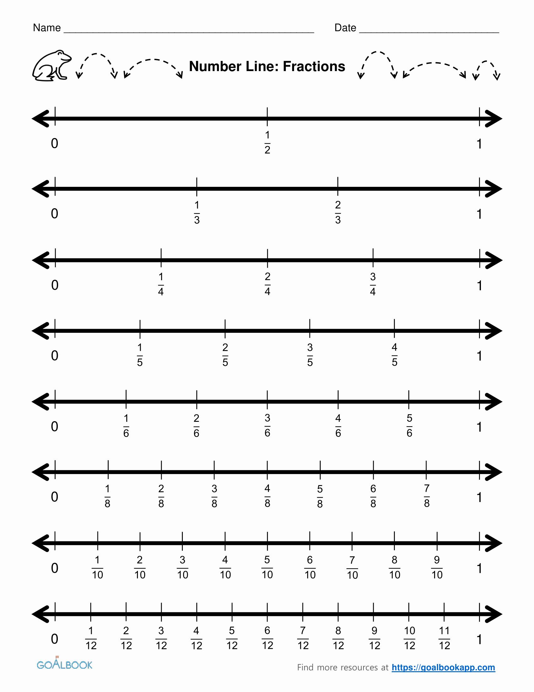 Fraction Number Line Worksheet Best Of Placing Fractions A Number Line Worksheet Pdf Adding