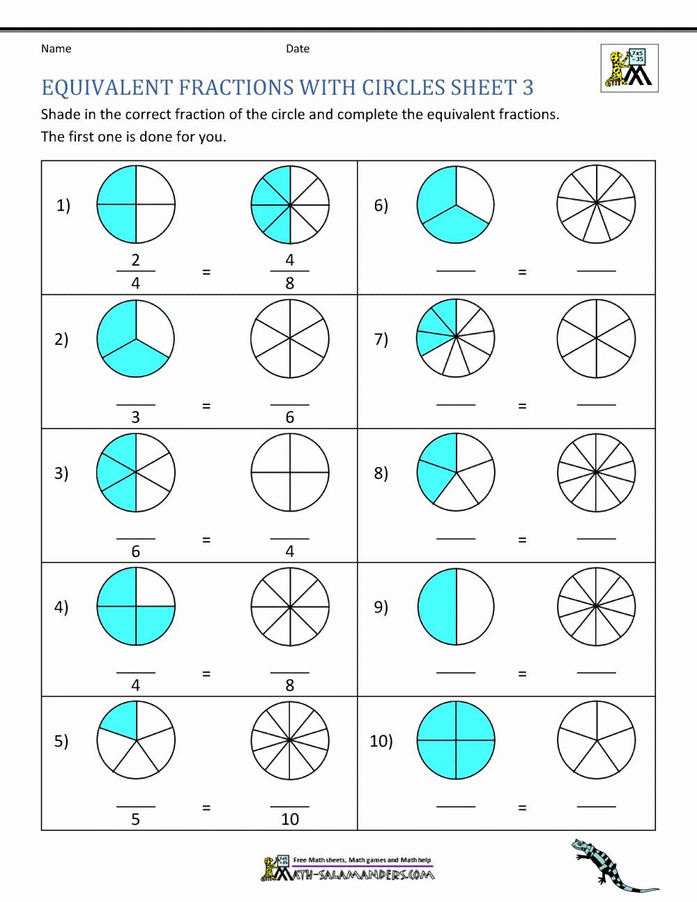 Fraction Number Line Worksheet Elegant Equivalent Fraction Number Line Worksheets