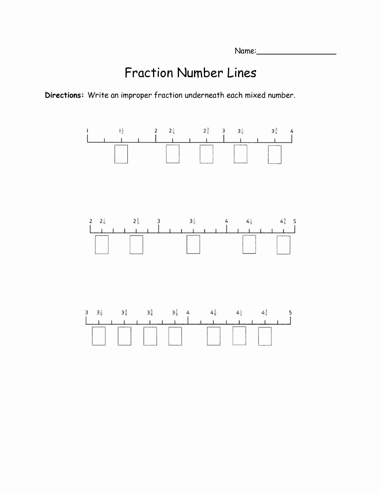 Fraction Number Line Worksheet Inspirational 7 Best Of Fractions Number Line Worksheets