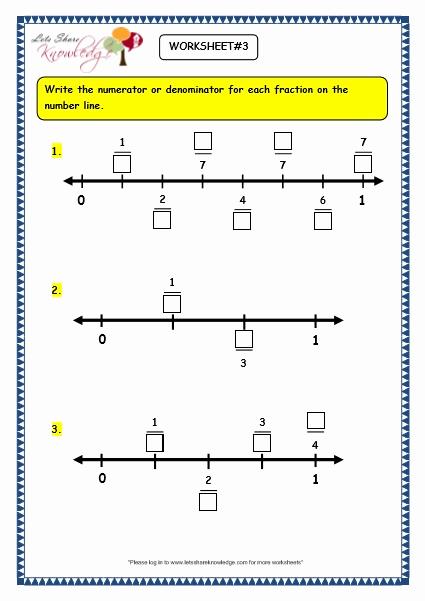 Fraction Number Line Worksheet Inspirational Grade 3 Maths Worksheets 7 2 Making Fractions On the