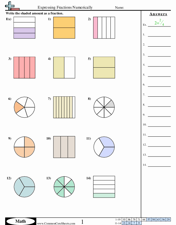Fractions Common Core Worksheets Luxury Fraction Worksheets