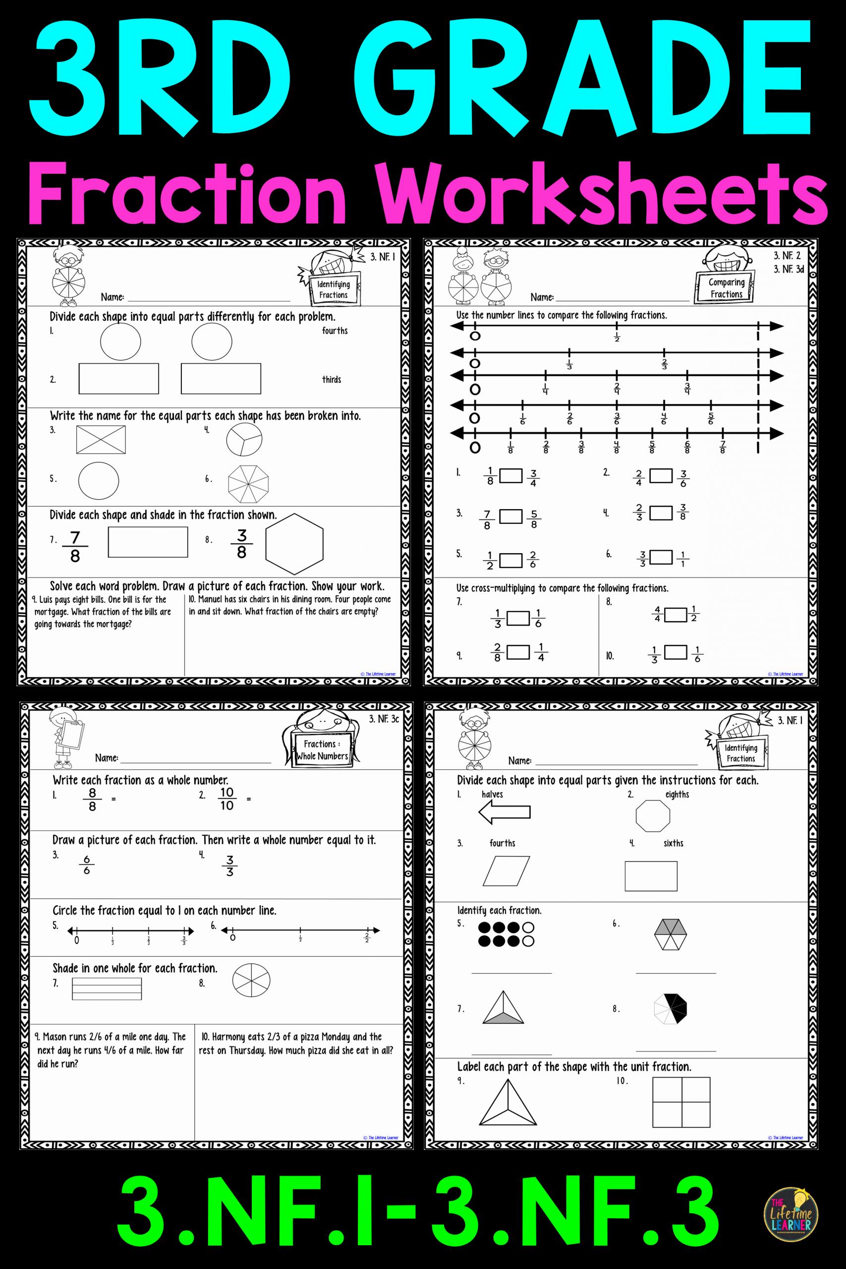 Fractions Common Core Worksheets Unique Third Grade Mon Core Fractions Worksheets