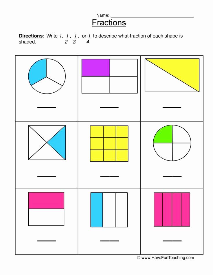 Fractions Worksheets 2nd Grade Best Of 2nd Grade Fractions Worksheets In 2020