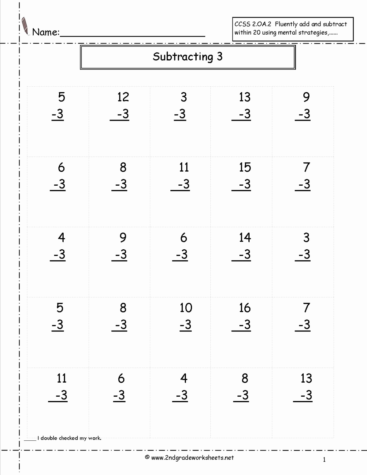 Fractions Worksheets 2nd Grade Best Of Second Grade Addition and Subtraction Worksheets