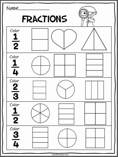 Fractions Worksheets 2nd Grade Elegant Fractions Practice Page Madebyteachers