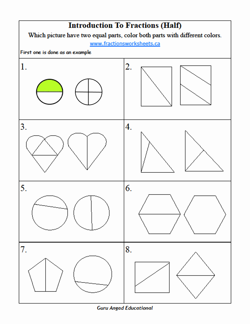 Fractions Worksheets 2nd Grade Luxury 2nd Grade Math Basic Fractions Worksheets On Half — Steemit